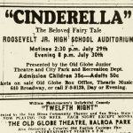 Ad for Cinderella from San Diego Union newspaper, 1949