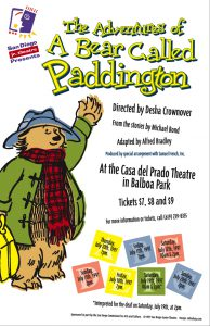 Poster for Junior Theatre's 1997 production of The Adventures of a Bear Called Paddington
