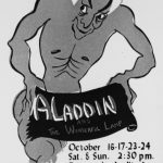 A rare poster for San Diego Junior Theatre's 1954 production of Aladdin