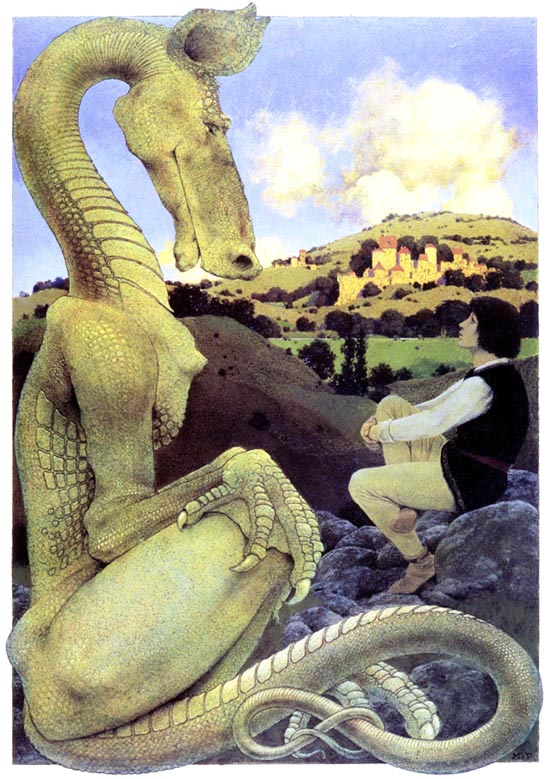 The Reluctant Dragon by Maxfield Parrish