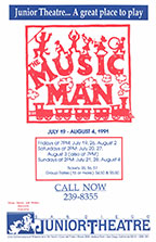 1991 The Music Man poster