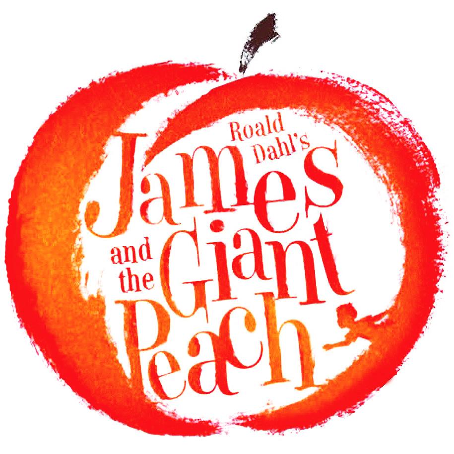 Roald Dahl's james and the Giant Peach logo 2021