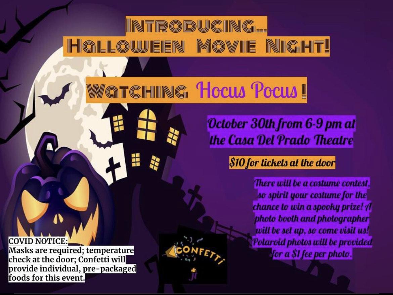 Confetti halloween Movie Night!